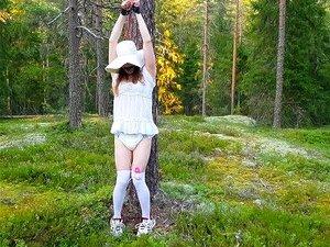 Tumblr outdoor bondage RopExpert's Gagged